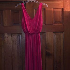 Hot Pink Lush Maxi Dress XS